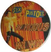 Sex Pistols - 'Sid My Way' Button Badge